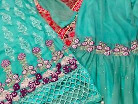 Asian latest style dress.