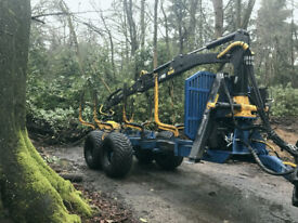 Forestry crane trailer
