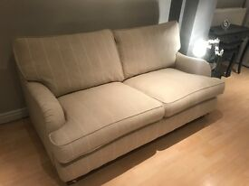 Dfs Gower range stripe large sofa in natural colour like brand new as never used