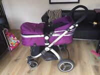 Purple iSafe, 3 in one pushchair