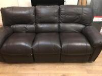 3 &2 seater leather sofa