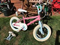 Girls pink bike 14""