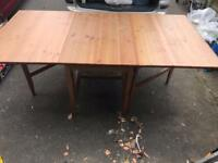 Ikea wooden drop leaf table and chairs