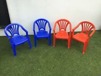 4 children's outdoor chairs in excellent condition with no fading