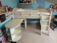 Feather & Black premium kids bunk bed (mid sleeper) RRP £1300 with desk