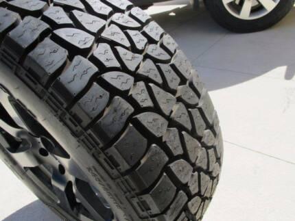 Pajero Rim and Tyre - Mickey Thompson 265/60R18 on Daytona rim