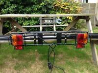 Towbar bike rack