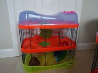 USED - 2 tier IMAC hamster cage - all in picture included.