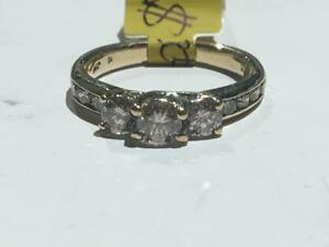 #151 10K LADIES DIAMOND ENGAGEMENT RING .86CT TOTAL *SIZE 5 1/2* JUST IN FROM APPRAISAL AT $2450.00!