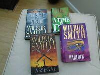 Wilbur Smith Hardbacks x 4