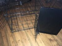 Medium dog cage – door on front and side – excellent condition