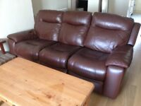 leather electric sofa 18 months old