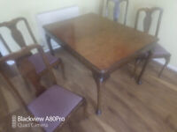 Dining Table and 4 chairs Hayling