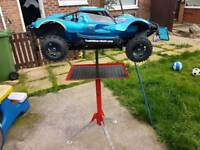 Losi 5ive t axis rocket rc stand in excellent condition baja