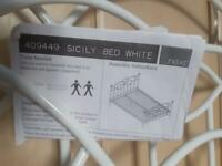 Next white double bedstead