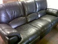 Sofa - Black - Land of Leather
