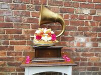Vintage Gramophone Cake Stand for hire
