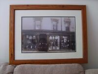 MARSHALL AND SON .2 FORE STREET BODMIN. 25 X 19 FRAMED & GLAZED PHOTO/ PRINT, FRAMED IN BODMIN.