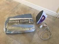 Travel Iron and Ironing Board