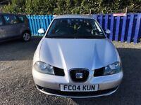 2004 SEAT IBIZA 1.4 MOT 16 FEB 19 CHEAP ROAD TAX 5 DOOR HATCHBACK