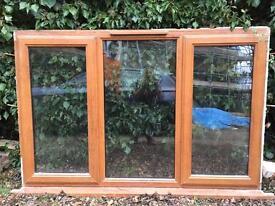 Heritage oak UPVC windows-single, double,triple/doors/front door - only 2 years old!!