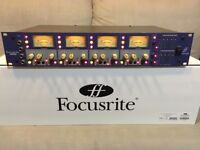 'FOCUSRITE ISA428' mic preamp, inc optional ADC digital card. Excellent condition. RRP=£1,798.