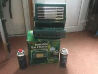 Top flame portable gas heater