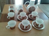NORITAKE YOUNGER IMAGE COFFEE SET