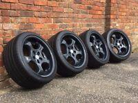 Brock B2 deep dish alloy wheels, 18inch, 5x112, Vw Transporter T4, Audi