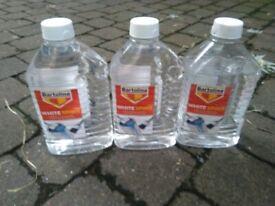 Bartoline 2 litre bottles of white spirits paint thinner central London bargain