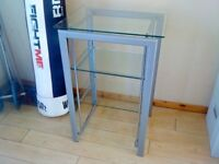 3 Tier glass shelves, sturdy and excellent quality