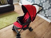 Joie Aire Travel System, Red, Stroller & Car seat, excellent used condition