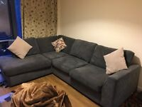 Right Hand Large Corner Sofa. Only 6 months old still in brilliant condition