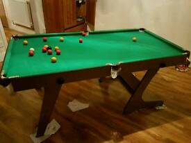Snooker and Pool table nearly new