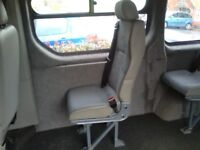 Van rear seats with seat belts X2 out of a Renault trafic van , should fit any van