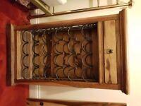 Jali Sheesham Wine Rack & Drinks Cabinet