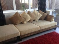 Luxury Rattan Corner Sofa Units X 2 Imported from Europe ABSOLUTE BARGAIN AT £200 each unit