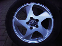 "volvo 16"" alloy wheels and winter tyres."