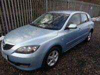 MAZDA 3 TS 1.6 PETROL 2008 5 DOOR HATCHBACK BLUE 65,000 M.O.T 03/04/19 EXCELLENT CONDITION
