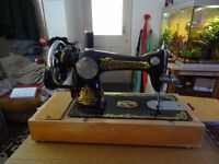 Hand operated sewing machine in perfect condition