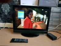 Tv DVD combo 12v freeview HDMI usb remote stand mains adaptor