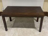 Solid Wood Coffee Table Walnut Effect