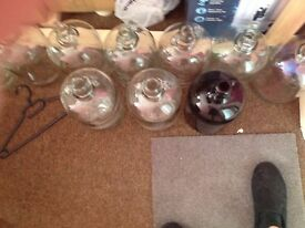 USED GLASS DEMIJOHN FOR SALE, ALL CLEAN AND UNDAMAGED.£2.00 EACH OR TWO FOR £5. 20 AVAILABLE