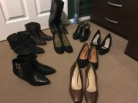 Leather and suede shoes. SIZE 4