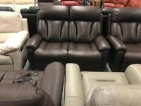 High retail 2x2 seater leather sofas