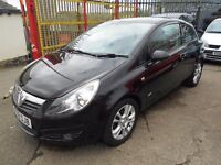 vauxhall corsa 1.2 sxi (ac) 3dr 2008 model in imaculate black paintwork