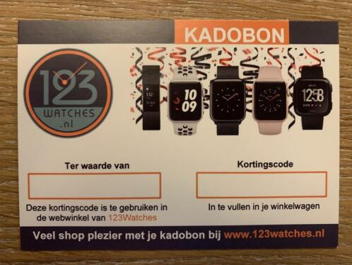 Kadobon 123Watches €100