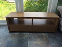 Oak TV Stand with 2 drawers £25 ono