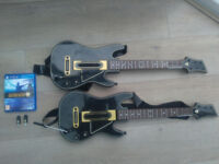 guitar hero live and 2x guitar controllers PS4