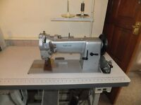 Adler 167-373 Walking foot sewing machine with large capacity bobbin.